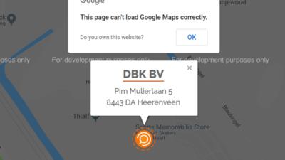 Kaart van Google Maps werkt niet meer!? Wat nu?