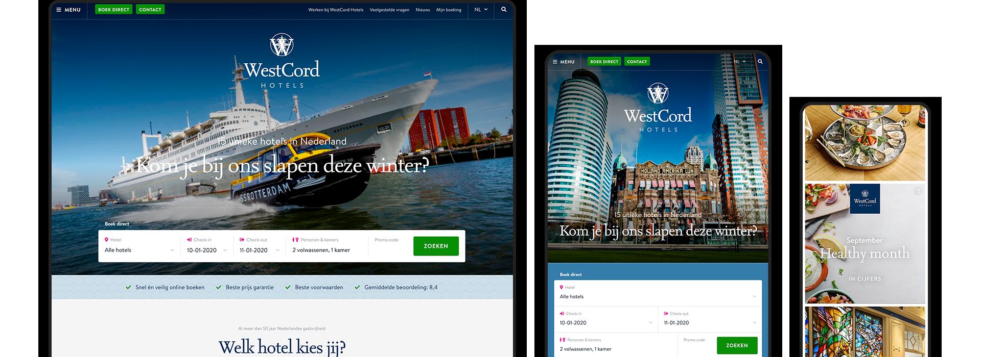 Voel je thuis bij WestCord Hotels