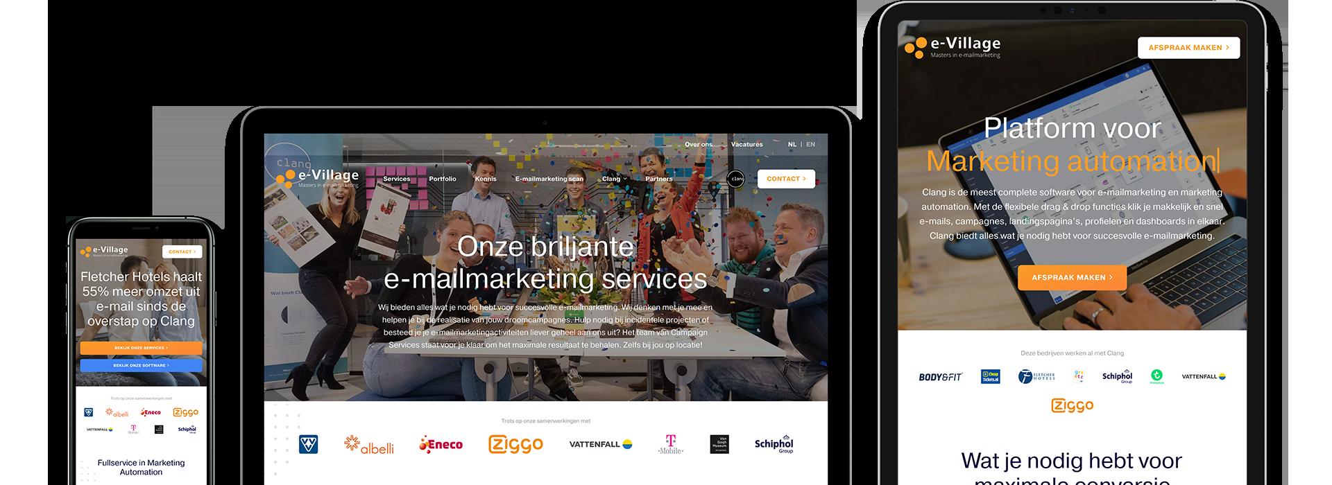 Een nieuwe, conversiegerichte website én online strategie voor e-Village